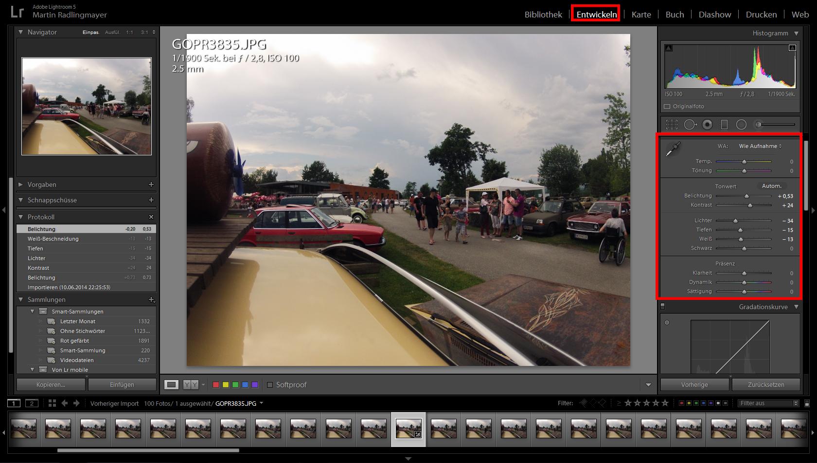 Timelapse Video mit Lightroom und Virtualdub